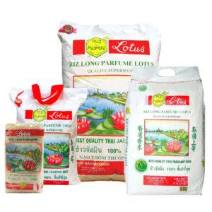 Haudecoeur propose du riz parfumé lotus