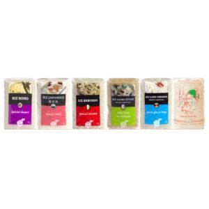 Il existe 6 variétés de riz blanc chez Haudecoeur