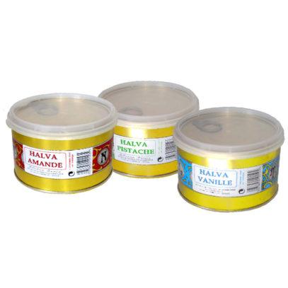 Haudecoeur vous propose de la halva pistache, halva vanille et halva amande