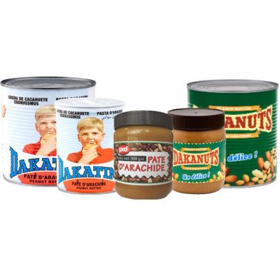 Haudecoeur vous propose de la pâte d'arachide Dakatine, PCD et Dakanuts