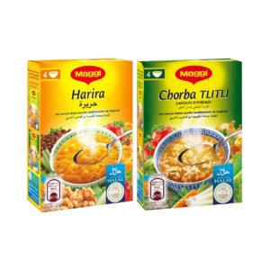 Haudecoeur propose des soupes halal Maggi