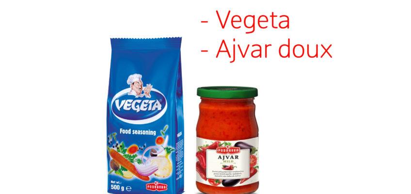 Nouveau : Le Vegeta et l'ajvar sont arrivés !