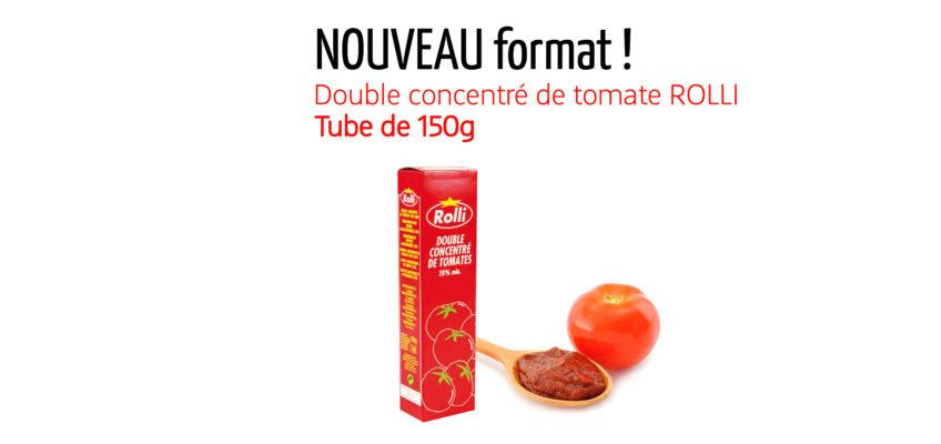 Nouveau format : double concentré de tomates ROLLI en tube de 150g !